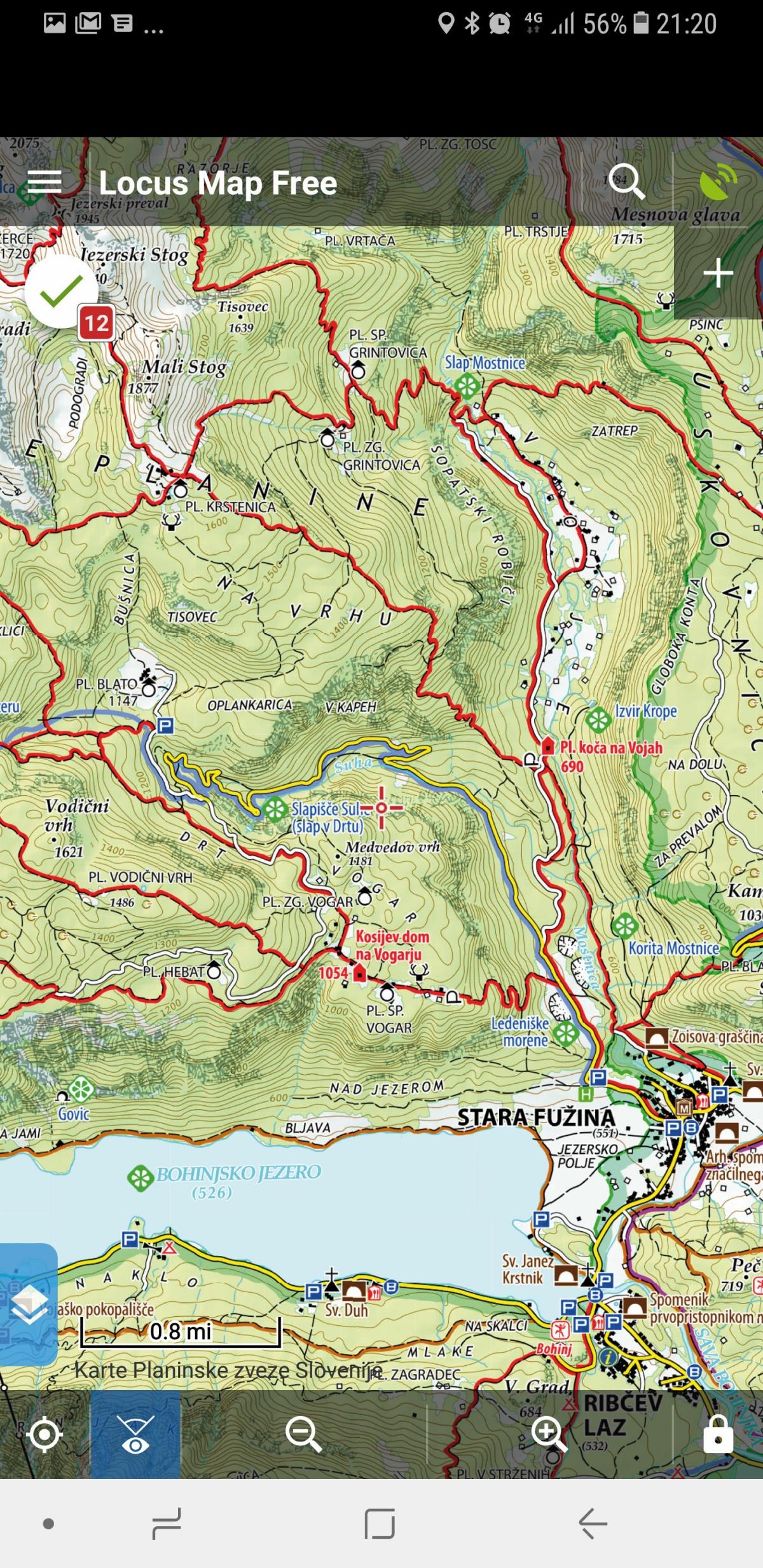 V hribe z digitalnimi zemljevidi   Monitor